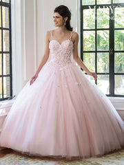 Floral Appliqued Quinceanera Dress by Mary's Bridal MQ1020-Quinceanera Dresses-ABC Fashion