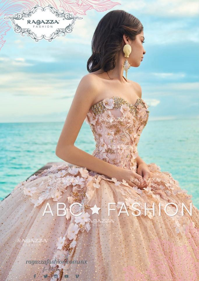 Floral Beaded 2-Piece Quinceanera Dress by Ragazza Fashion D08-508-Quinceanera Dresses-ABC Fashion