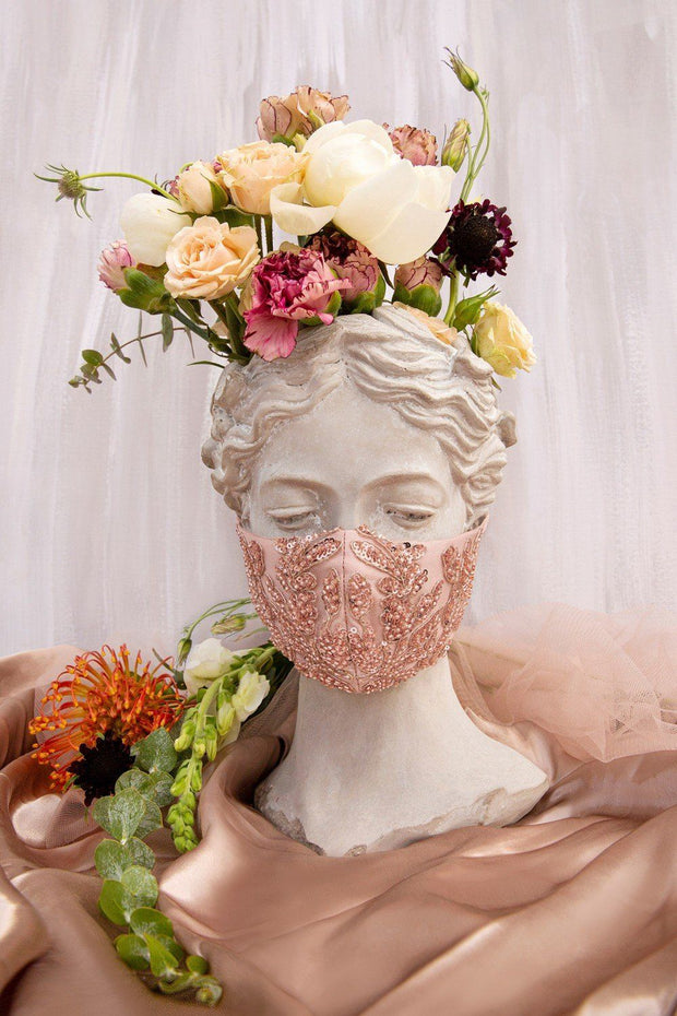 Floral Beaded Fashion Face Masks (3-Pack)