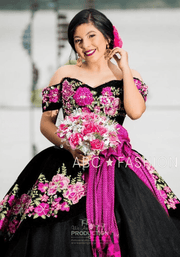 Floral Charro Quinceanera Dress by Ragazza Fashion MV15-115-Quinceanera Dresses-ABC Fashion