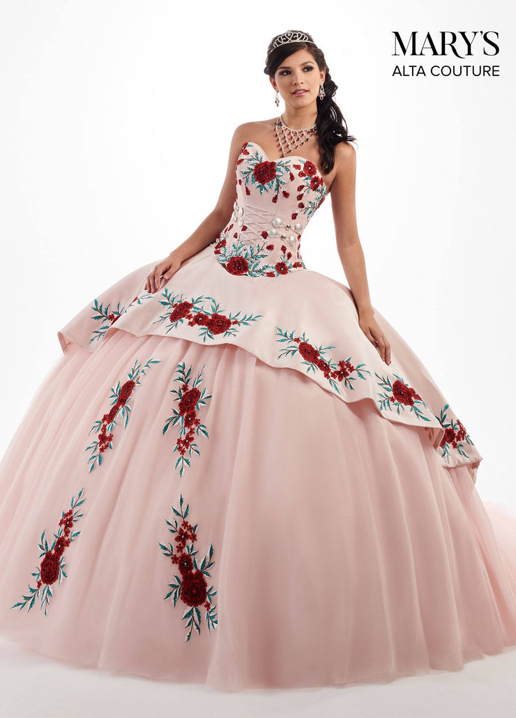 Floral Charro Two-Piece Quinceanera Dress by Alta Couture MQ3024-Quinceanera Dresses-ABC Fashion