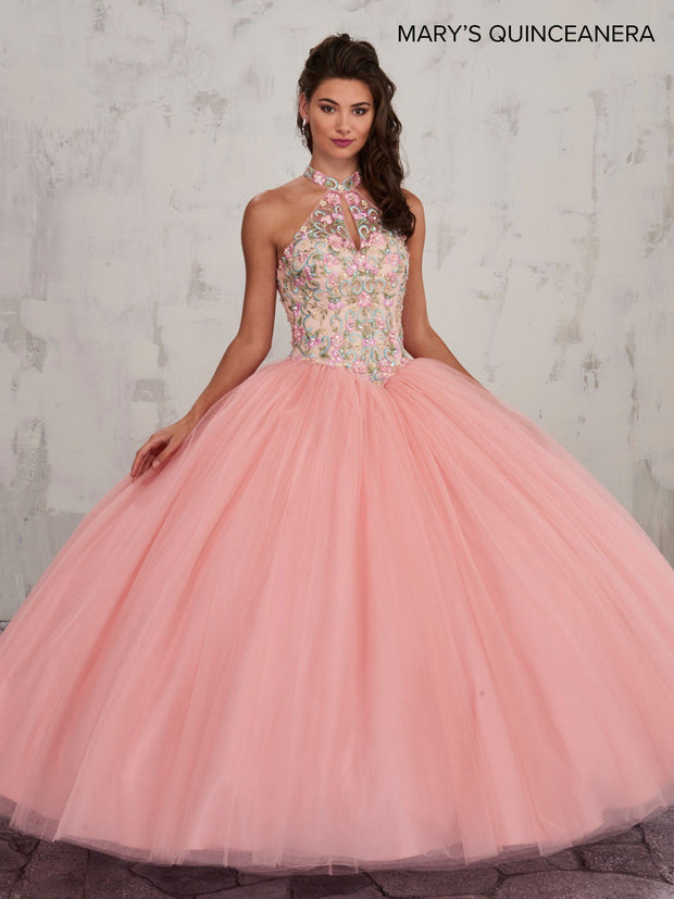 Floral Embroidered Quinceanera Dress by Mary's Bridal MQ2008-Quinceanera Dresses-ABC Fashion