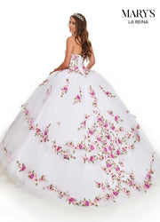 Floral Embroidered Quinceanera Dress by Mary's Bridal MQ2011-Quinceanera Dresses-ABC Fashion