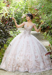 Floral Embroidered Quinceanera Dress by Mori Lee Vizcaya 89295