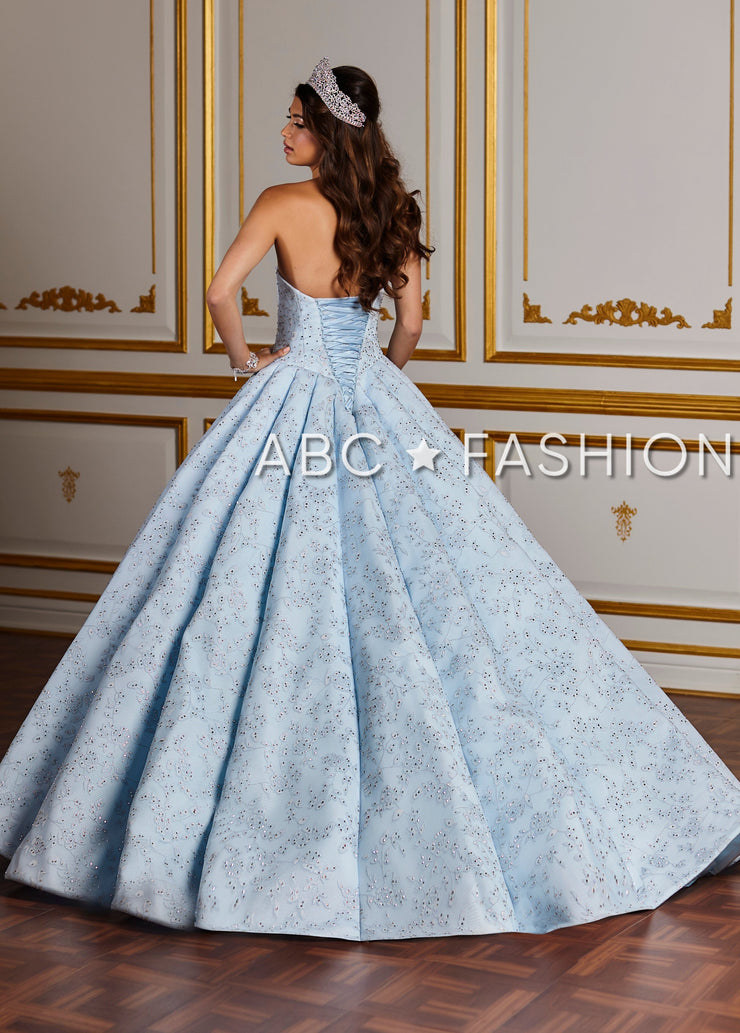 Floral Lace Strapless Quinceanera Dress by House of Wu 26932-Quinceanera Dresses-ABC Fashion