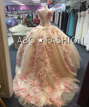 Floral Off the Shoulder Quinceanera Dress by Ragazza Fashion D03-503-Quinceanera Dresses-ABC Fashion