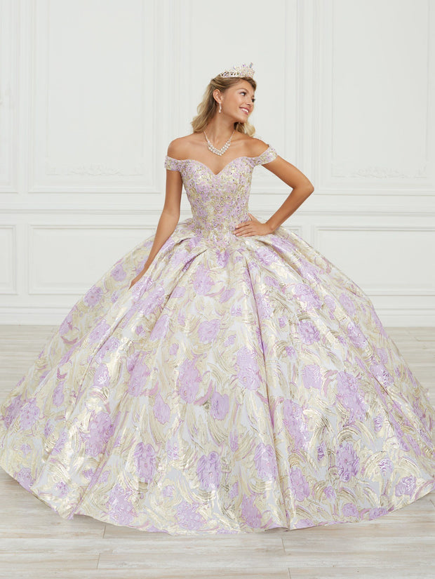 Floral Print Quinceanera Dress by House of Wu 26971