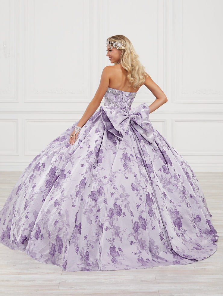 Floral Print Quinceanera Dress by House of Wu 26974