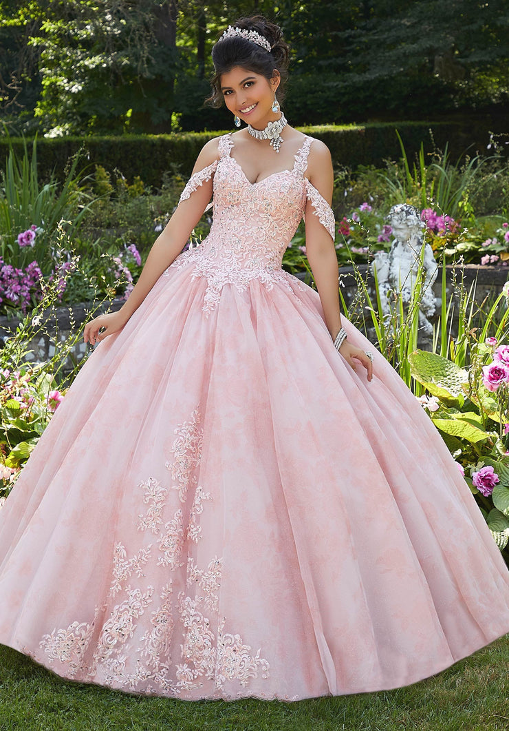 Floral Print Quinceanera Dress by Mori Lee Vizcaya 89265-Quinceanera Dresses-ABC Fashion