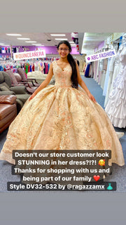 Floral Print Quinceanera Dress by Ragazza DV32-532