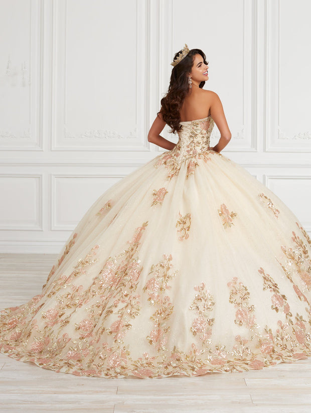 Floral Sequin Quinceanera Dress by House of Wu 26976