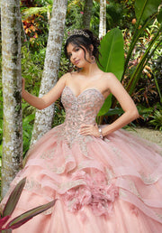 Flounce Sweetheart Quinceanera Dress by Mori Lee Vizcaya 89293