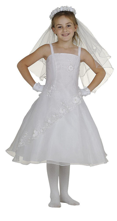 Flower Girl Dresses with Floral Embroidery - 3 Colors-Girls Formal Dresses-ABC Fashion