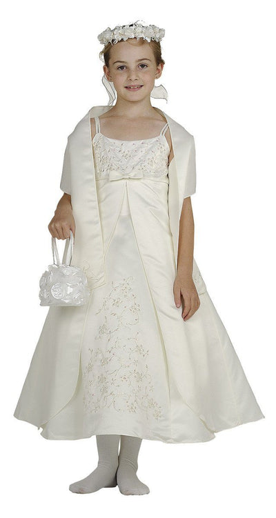 Flower Girl Dresses with Floral Embroidery - 4 Colors-Girls Formal Dresses-ABC Fashion