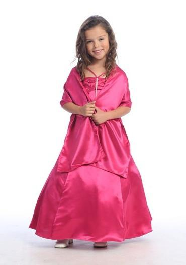 Fuchsia A-Line Junior Bridesmaid Dresses-Girls Formal Dresses-ABC Fashion