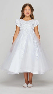 Girls 3D Applique Short Sleeve Dress by Cinderella Couture 2012