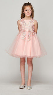 Girls Beaded Short Glitter Dress by Cinderella Couture 9112