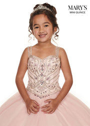 Girls Long Beaded Sleeveless Dress by Mary's Bridal MQ4011-Girls Formal Dresses-ABC Fashion