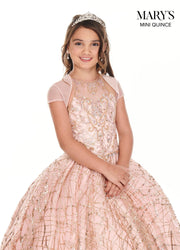 Girls Long Halter Glitter Dress by Mary's Bridal MQ4017-Girls Formal Dresses-ABC Fashion