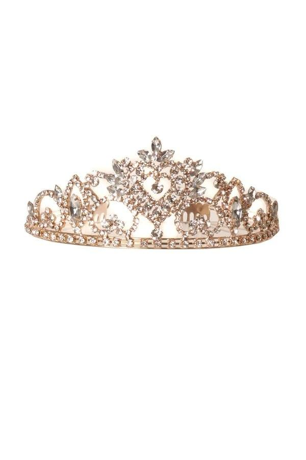 Girls Lovely Rhinestone Heart Tiara with Comb