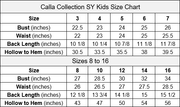 Girls Metallic Glitter Off Shoulder Ball Gown by Calla SY142
