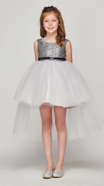 Girls Sequin High Low Dress by Cinderella Couture 5098