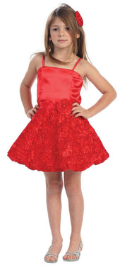 Girls Short Dresses with Floral Skirt-Girls Formal Dresses-ABC Fashion