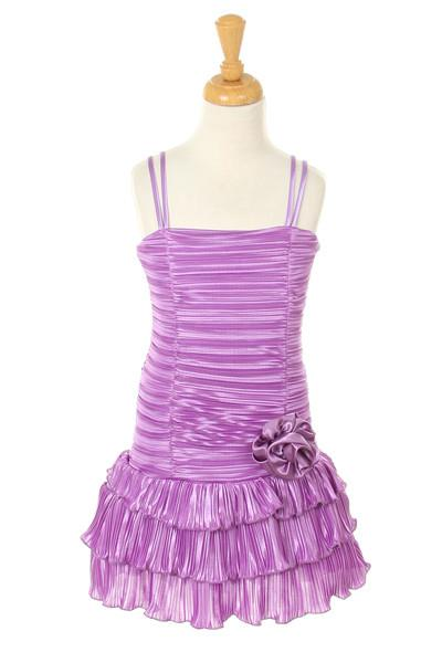 Girls Short Lavender Dresses with Black Bolero-Girls Formal Dresses-ABC Fashion