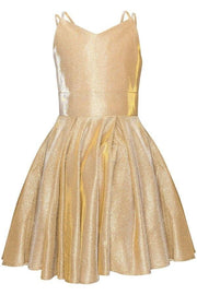 Girls Short Sleeveless Metallic Dress by Cinderella Couture 8011
