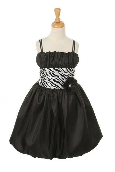 Girls Short Zebra Print Dresses-Girls Formal Dresses-ABC Fashion