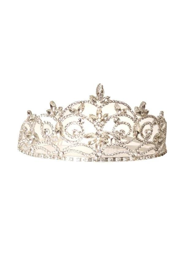 Girls Silver Floral Tiara with Comb