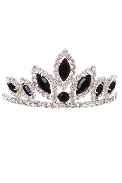 Girls Silver Stone Mini Gold Tiara with Comb