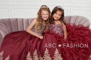 Girls Sleeveless Long Ruffled Dress by Mini Quince 26833MQ-Girls Formal Dresses-ABC Fashion