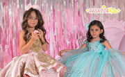 Girls Two Tone Ball Gown by Ragazza Kids N12-712
