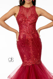 Glitter Mermaid Dress with Tiered Skirt by Elizabeth K GL1822