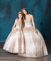 Glitter Off Shoulder Quinceanera Dress by Calla SYL19010