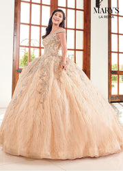 Glitter Off Shoulder Quinceanera Dress by Mary's Bridal MQ2095-Quinceanera Dresses-ABC Fashion