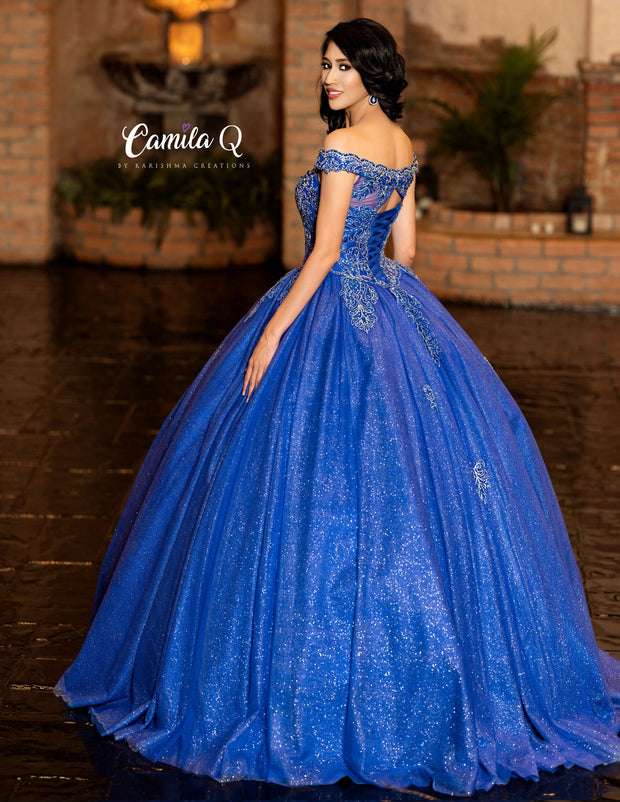 Glitter Off the Shoulder Quinceanera Dress by Camila Q Q19007-Quinceanera Dresses-ABC Fashion