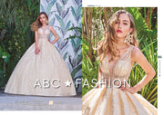 Glitter Pattern Illusion Quinceanera Dress by Forever Quince FQ807-Quinceanera Dresses-ABC Fashion