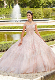 Glitter Print Quinceanera Dress by Mori Lee Vizcaya 89302