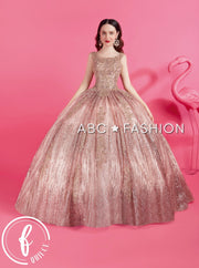 Glitter Sleeveless Quinceanera Dress by Forever Quince FQ820