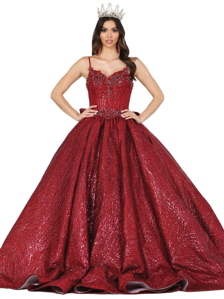 Glitter Sleeveless Sweetheart Ball Gown by Dancing Queen 1447