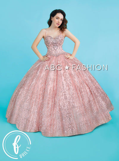 Glitter Sweetheart Quinceanera Dress by Forever Quince FQ817