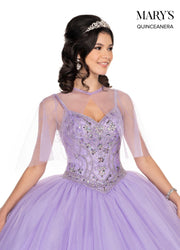 Glitter Sweetheart Quinceanera Dress by Mary's Bridal MQ1053-Quinceanera Dresses-ABC Fashion