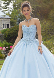 Glitter Sweetheart Quinceanera Dress by Mori Lee Valencia 60101-Quinceanera Dresses-ABC Fashion