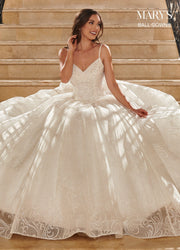 Glitter Tulle Wedding Ball Gown by Mary's Bridal MB6071