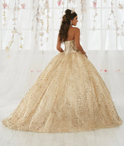 Gold Applique Strapless Quinceanera Dress by House of Wu 26913-Quinceanera Dresses-ABC Fashion