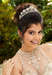 High Neck Illusion Quinceanera Dress by Mori Lee Vizcaya 89251-Quinceanera Dresses-ABC Fashion