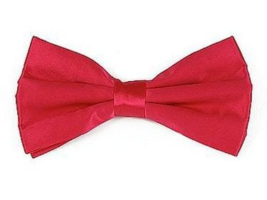 Hot Pink Bow Ties with Matching Pocket Squares-Men's Bow Ties-ABC Fashion