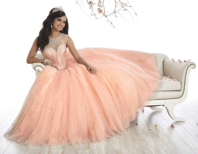 Illusion A-line Quinceanera Dress by House of Wu 26866-Quinceanera Dresses-ABC Fashion